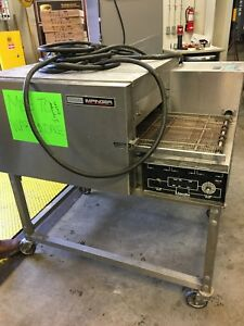Lincoln Impinger 1132 Electric Convection 18 Wide Conveyor Pizza Sub Oven 208v