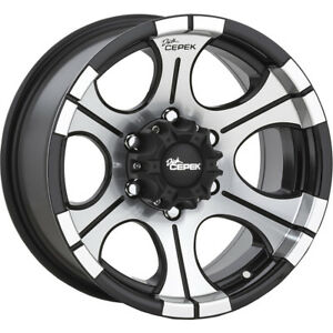 15x8 Dick Cepek Dc 2 Black Wheels Rims 21 6x5 50 Qty 4