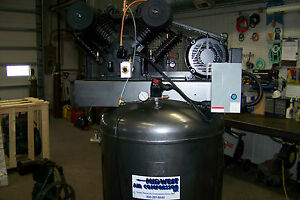 Chicago Pneumatic Air Compressor 7 5 Hp 1 Ph Two Stage Cast Iron New Full Fea