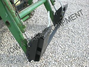 John Deere Pin on Loader To Skid Steer Quick Attach Adapter compact