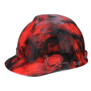 Rugged Blue Custom Hydrographic Lost Soulz Red Hard Hat