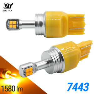 2x 50w 7443 7440 Led Amber Front Turn Signal Parking Drl High Power Light Bulbs