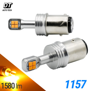 1157 Cree Led Amber Yellow Turn Signal Parking Drl High Power Light Bulbs