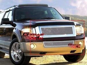 Fits 2007 2014 Ford Expedition Stainless Steel Mesh Grille Grill Insert Combo
