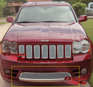 Fits 2009 2010 Jeep Grand Cherokee Bumper Stainless Mesh Grille