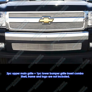 Fits 2007 2011 Chevy Silverado 1500 Phat Billet Grille Combo