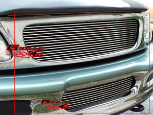 Fits 1997 1998 Ford F 150 4wd Expedition Billet Grille Combo