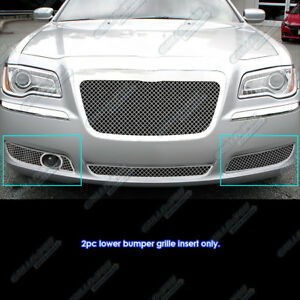 Fits 2011 2014 Chrysler 300 300c Fog Light Stainless Steel Mesh Grille Grill