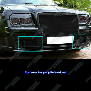 Fits 2005 2010 Chrysler 300c Bumper Black Stainless Steel Mesh Grille
