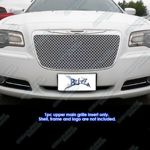 Fits 2011 2014 Chrysler 300 300c Stainless Steel Double Wire X Mesh Grille