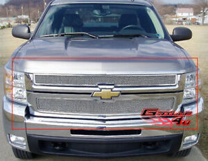 Fits 2007 2010 Chevy Silverado 2500 3500 Stainless Mesh Grille