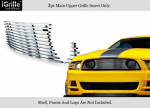Fits 2013 2014 Ford Mustang Gt Stainless Steel Billet Grille Inserts