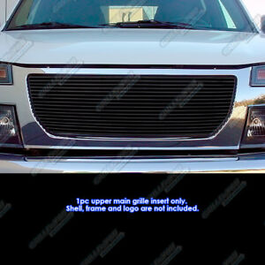 Fits 2004 2012 Gmc Canyon Black Billet Grille Grill Insert