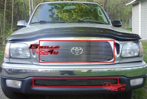 Fits 2001 2004 Toyota Tacoma Billet Grille Combo