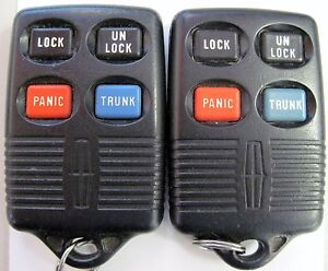 2 Mark Iii Town Tracer Cougar Keyless Remote Control Fob Gq43vt4t Transmitter