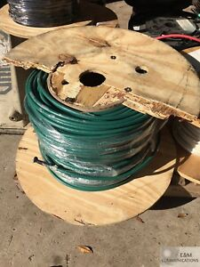 Copper Wire 6g 0201 04 600ft Cable 2awg Thhn thwn 19 Str 1 Con Grn Pwr 90c 600v