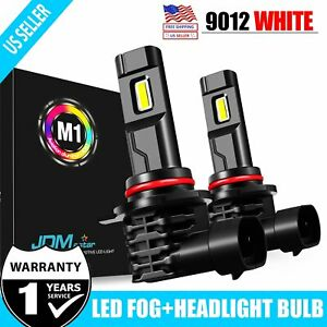 Jdm Astar 2x 8000lm 9012 Led Headlight Bulbs High low Beam Kit 6000k Xenon White