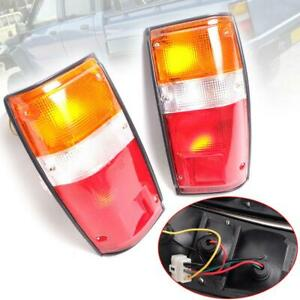 Fit 1984 1988 Toyota Hilux Ln50 Rn50 Compact Pickup Tail Lights Rear Lamp Pair
