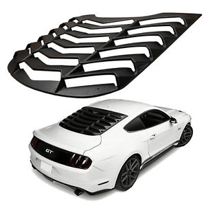2015 2017 Ford Mustang Lambo Style Abs Black Rear Window Louver Cover 1 Pc