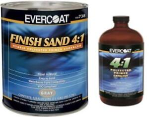 Evercoat 738 4 1 Gray Finish Sand Hybrid Polyester Primer With Act fib 738 733