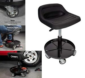 Mechanics Creeper Adjustable Rolling Creeper Seat Mechanic Stool Chair Garage