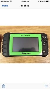 Snap On Eesc318 Solus Ultra Touch Screen Scanner Version 14 2