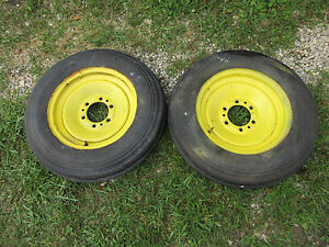 John Deere A G Early Set Of Rims And Nearly New Tires