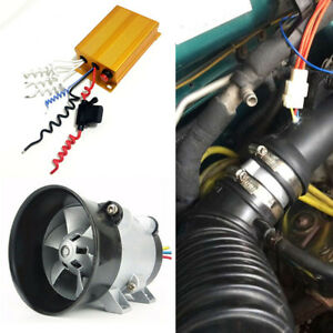 300w 35000rpm Car Electric Turbine Power Turbo Charger Bold Lines controller 12v