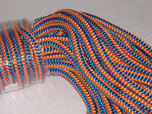 Arborist 12 Strand Polyester Climbing Rope 1 2x200 Feet Blue Orange Hi Vis Tree