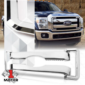 Glossy Chrome Abs Front Bumper Grille Grill Overlay For 11 16 Ford F 250 F 350