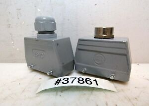 2 6 Pin Electrical Connectors With Hoods inv 37861
