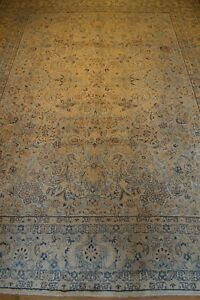 9 X 13 Persian Kerman 1900 Handmade Knotted Genuine Antique Rug Free Ship