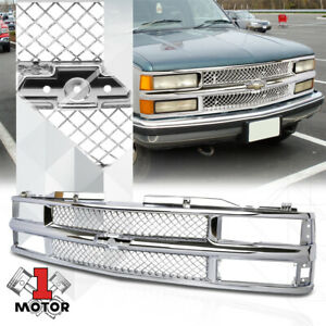 Chrome Abs Classic Mesh Grille Grill For 94 99 Chevy C10 Suburban Blazer Tahoe