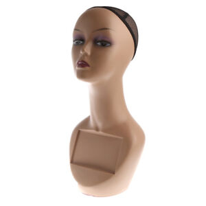 Female Mannequin Head Bust Wig Hat Jewelry Display Model Stand With Net