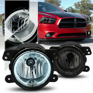 Smoke Tinted Ccfl Halo Ring Fog Light Lamp W harness For 11 14 Dodge Charger