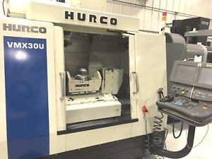 Hurco 5 Axis Vmc Model Vmx 30u will Ship Item At Your Expense