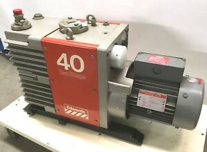 Edwards E2m40 Vacuum Pump Two Stage Rotary Vane W ge 3hp 208 230 460vac 3 Boc