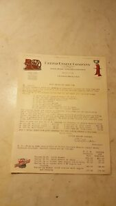 Antique Circa 1920 United Hit Miss Engine Advertising Letter Head Color