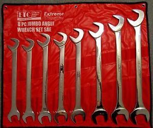 Jumbo Sae Open End Angle Wrench Set Extreme Torque 4 Way Open End 1 5 16 To 2