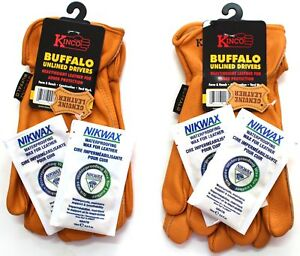 Kinco 81 Buffalo Leather Work Gloves For Men 2 pack Of Kinco s Toughe New