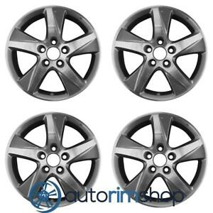 Acura Tsx 2009 2014 17 Factory Oem Wheels Rims Set Machined With Charcoal