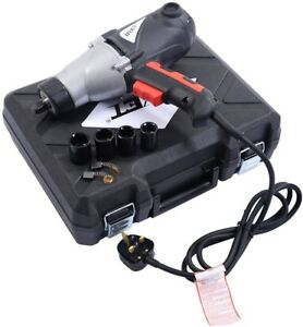 Heavy Duty Electric Impact Wrench 1 2 Drive And 4 Sockets 450nm Torque 1010w