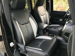 Katzkin Blk Pearl Leather Int Seat Covers Fits 2013 2018 Jeep Wrangler Jk 4dr