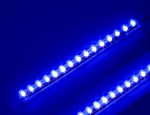 10x Blue Waterproof 6 Led Strip Flexible Light Fo Motor Car Truck Boat Bike 12v