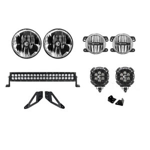 Kc Hilites Offroad Led Light Kit Stage 1 Jeep Wrangler Jk 2007 2016