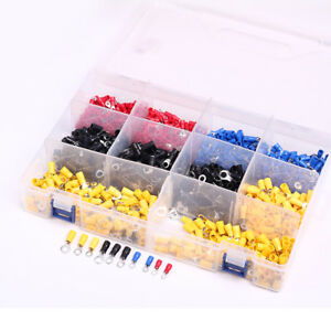 1000pcs O type Insulated Terminal Copper Crimp Connector Kits Rv1 25 2 3 5 5 5