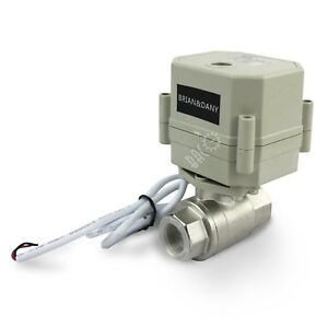 Brian Dany 1 2 Dn15 Stainless Steel Npt 2 Port Motorized Ball Valve a New