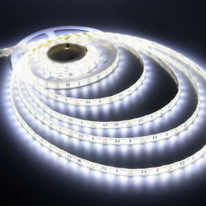 5 Metres 150 Led Waterproof Strip Lighting 5050 Smd White 12v Top Quality 5m