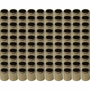 100 Metal Chrome Sleeves For Snap In Valve Stems