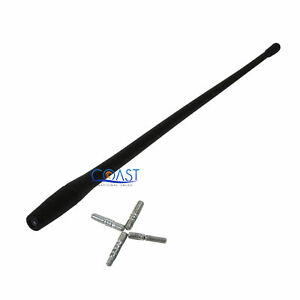 Universal 13 Radio Rubber Replacement Mast Screw In Antenna Mast W 4 Adapters